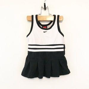 Nike Team Spirit Cheer Dress Black White Pleated